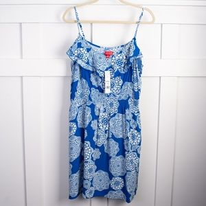 Elle Blue Floral Dress NEW size XL